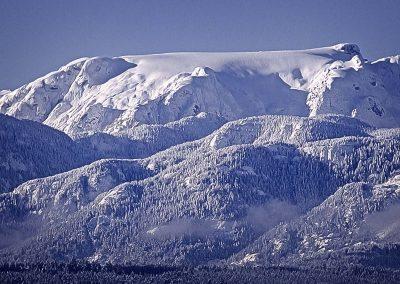 Comox Glacier and Fresh Snow