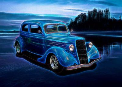 1935 Ford 2-Door Sedan - 11x14 $85