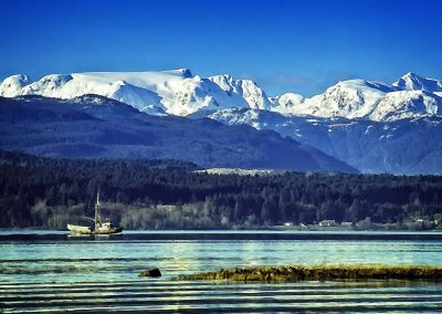 Comox Glacier and Herring Boat