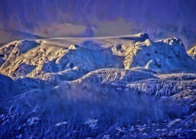 Windstorm on Comox Glacier