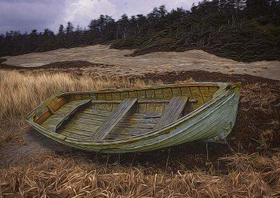 Clinker-built Rowboat