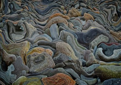 abstract rocks distorted