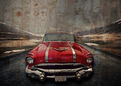 1956 Pontiac Strato-Streak - 20x24 $265