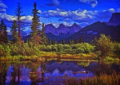 Three Sisters Peaks - 24x36 $475