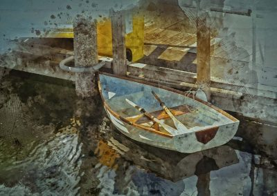 abstract of rowboat
