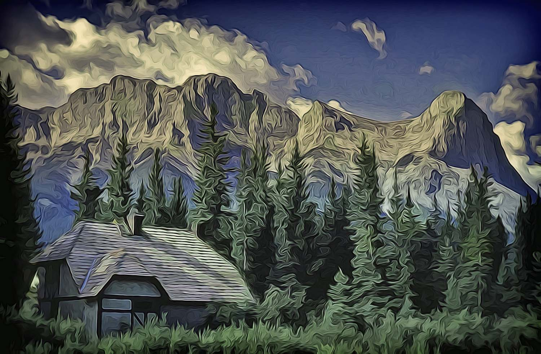 Alberta Mountain Scene