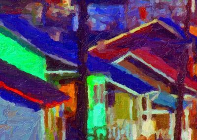 village houses in abstract