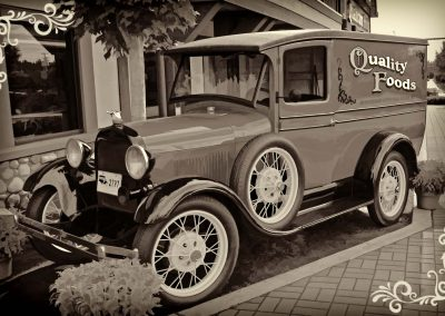 classic 1930 Ford panel truck