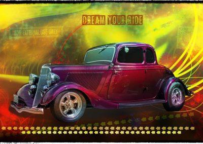 classic 1934 Ford 5 window Gennie