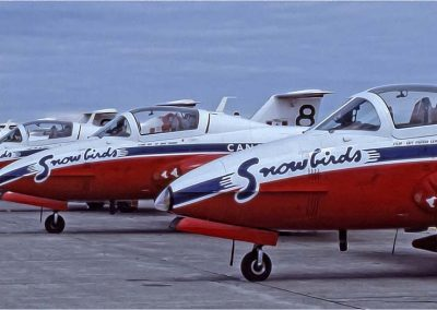 Canadian Snowbirds on the runway