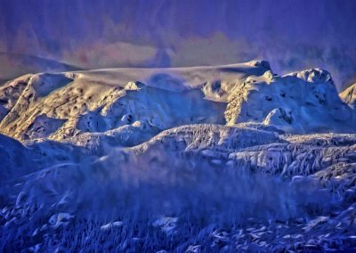 Windstorm on Comox Glacier