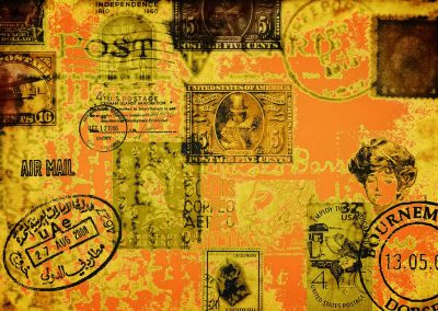abstract of old stamps