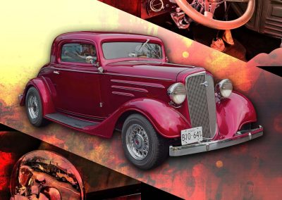 1935 Chev 3 Widow Coupe