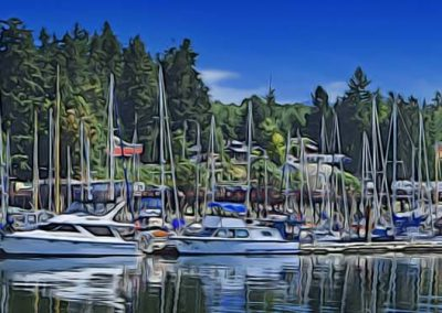 wharf at Deep Bay, BC, Canada