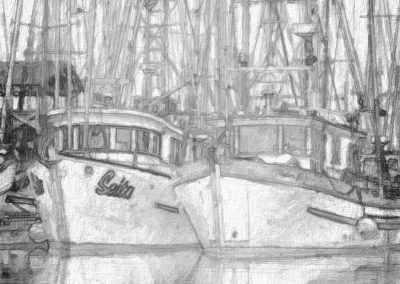 Fishing Boat Sketch