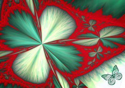 abstract fractal of a shamrock and butterfly
