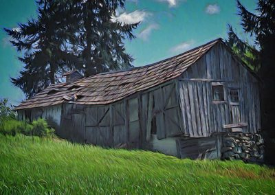Sagging Old Barn