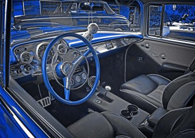 interior of classic 1957 Chev