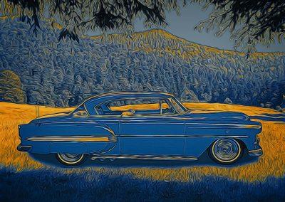 blue 1953 Chevrolet