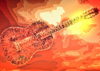 abstract of acoustic guitar